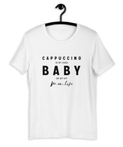 Cappuccino in my hand baby on my hip - Momlife