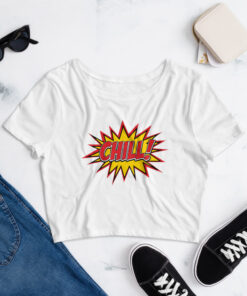 Comic Style Chill Women's Crop Tee
