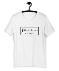 Mama Est. 2020 T-Shirt RT – Black Print
