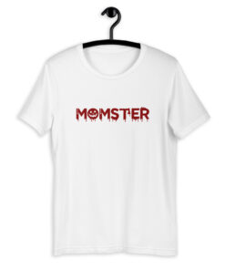Momster Mom Halloween T-Shirt - Blood Red Print