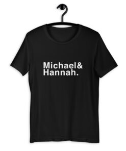 Personalised TWO NAMES Family Name T-Shirt - White text